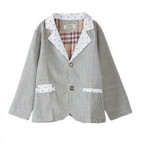 【清仓快甩完】儿童西装外套双层棉麻春天秋初穿
