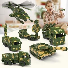 大号六款军事车(可发射炮弹)