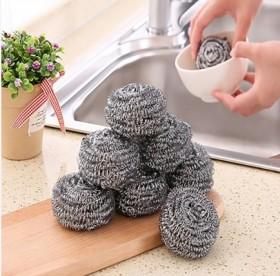 【4个装】厨房不锈钢刷锅去污清洁钢丝球清洁球铁丝