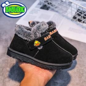 雪地靴加绒防滑男童防水棉鞋