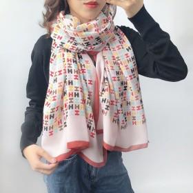 韩版时尚网红棉麻围巾保暖披肩百搭秋冬新款围脖女