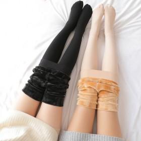 秋冬加绒加厚打底裤显瘦保暖连体裤袜踩脚连脚