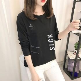 2020春新款韩版爆款长袖T恤女打底衫甜美女