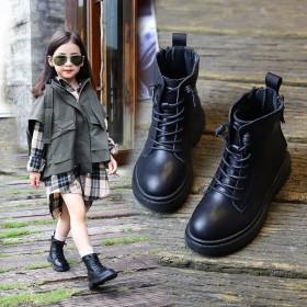 女童靴子秋冬中大童英伦风儿童短靴软底女孩公主单靴