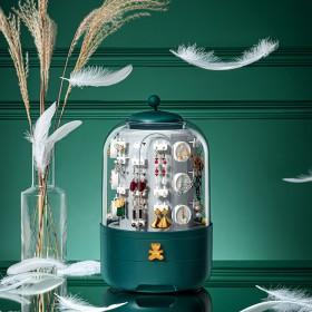 奢华欧式首饰盒360度旋转创意高.档项链饰品收纳架