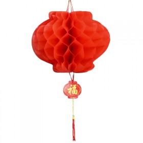 2个纸灯笼2021牛年元旦新年装饰挂件春节挂饰