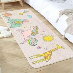 卧室地毯少女床边地垫免洗可睡可坐床下垫子网红地毯
