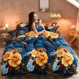 法兰绒四件套加厚加绒双面保暖珊瑚绒被套床单
