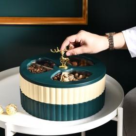 北欧式轻奢创意糖果盘前台精致收纳摆件水果盘零食果盆