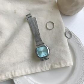 vintage法国小众手表女韩版气质森系学院风网带