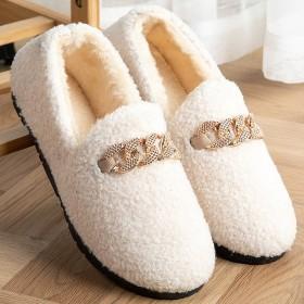 毛毛鞋女新款棉拖鞋秋冬季加绒居家软底包跟保暖毛绒豆