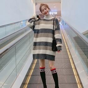 洋气百搭时尚中长款毛衣女2020新款宽松韩版可外穿