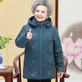 中老年棉衣冬装女装外套妈妈棉袄奶奶上衣棉服