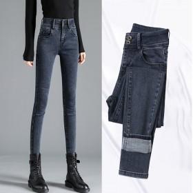 高腰显瘦显高弹力修身牛仔裤小脚裤