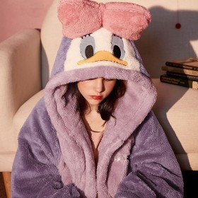 睡衣女秋冬季珊瑚绒睡袍加厚长款加绒浴袍睡裙