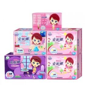 【安妮娜】70片 卫生巾护垫多防漏型日夜组合卫生巾