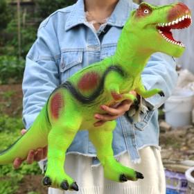 恐龙仿真软胶恐龙男孩儿玩具发声霸王龙三角龙动物模型