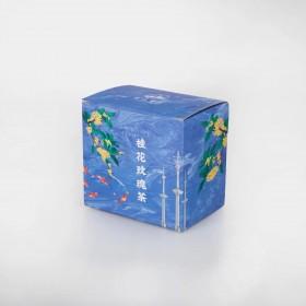 桂花玫瑰茶袋泡茶 一盒10小包 独立包装 三角茶包