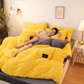 法兰绒四件套床上用品加厚珊瑚绒被罩水晶绒魔法绒床单