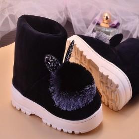 2020新款加绒毛球女鞋子毛毛鞋女冬季厚底防滑保暖