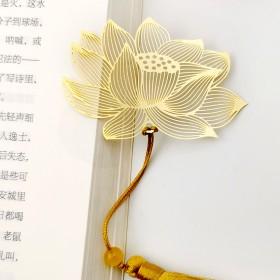 精致镂空创意黄铜金属叶脉书签文创小礼品纪念品复古中