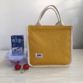 帆布饭盒手提袋大容量通勤上班便当袋上班族