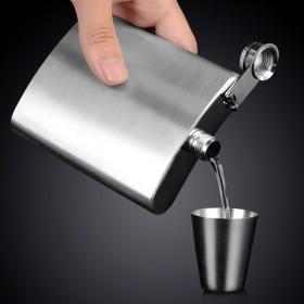俄罗斯小酒壶不锈钢304约半斤