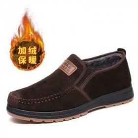 棉鞋男士冬季加绒老北京布鞋
