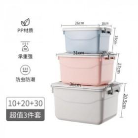3件套塑料收纳箱装衣服特收纳盒