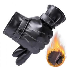皮手套保暖户外触屏加绒男士手套骑行防风加厚防水摩托