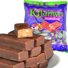3斤俄罗斯紫皮糖国产风味夹心巧克力年货糖果零食小吃