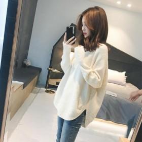 2021新款女士春秋装毛衣针织衫宽松打底时尚女装