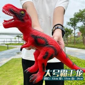 超大号仿真软胶恐龙玩具发声霸王龙三角龙动物模型52