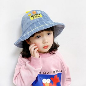 儿童帽子冬洋气渔夫帽男女童宝宝遮阳帽保暖韩版潮