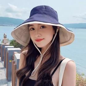春夏季渔夫帽子女防紫外线日系百搭网红遮阳防晒帽