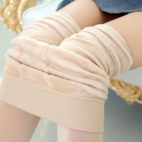 女士百搭高腰珍珠绒一体打底裤 加绒加厚保暖裤