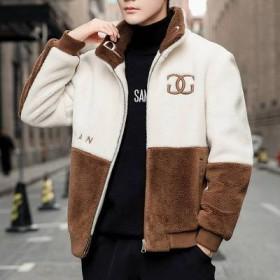 冬季新品男式休闲羊羔绒夹克衫青少年羊羔毛保暖潮流男