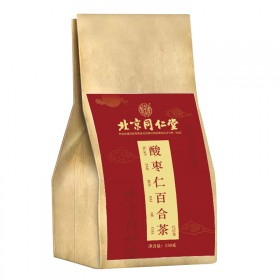北京同仁堂酸枣仁百合茶茯苓养生茶