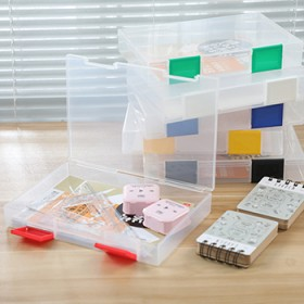 文具整理盒A5收纳盒日本单便携式透明工具盒