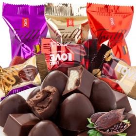 3斤夹心巧克力白巧克力黑巧克力喜糖糖果1500g