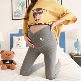大码孕妇打底裤春秋薄款 弹力外穿百搭小脚裤怀孕期高