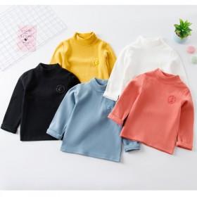 儿童打底衫中领套头秋冬纯色休闲舒适百搭舒绒中性双面