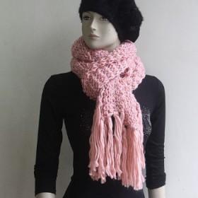 毛线手工围巾冬季长款防晒披肩