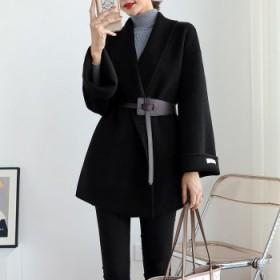 双面羊绒大衣女秋冬羊毛短款小个子韩版收腰毛呢外套