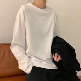 白色打底衫女韩版女装洋气内搭纯色长袖t恤