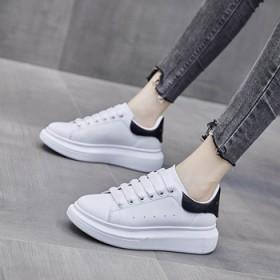 情侣款韩版麦昆小白鞋女2021春季新款学生厚底显高