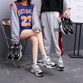 情侣款老爹鞋2021年春季新款韩版休闲运动跑步鞋子