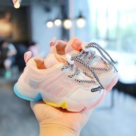 童鞋儿童1-6岁中性韩版网鞋超火防滑LED鞋运动鞋