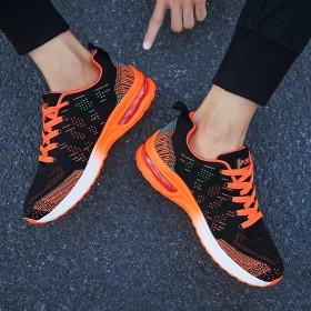 20新款秋季运动鞋流行男鞋低帮网纱拼色单鞋青年大码