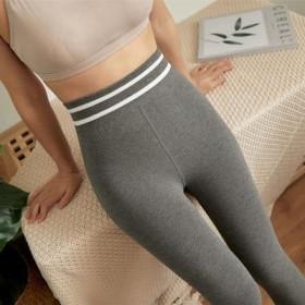 秋冬新品加绒女打底裤外穿弹力塑型显瘦瑜伽踩脚高腰紧